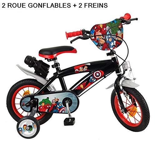 GUIZMAX Bicicleta Vengadores 12 Pouces Disney Gris Marvel