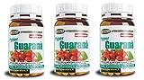 Guaraná Tabletas | 3 paquete de 90 tabletas | alto porcentaje de cafeína | Estimular emocionante | Afrodisíaco erección impotencia