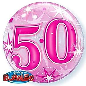 Qualatex 43126 - Globo de burbujas (50 unidades), color rosa