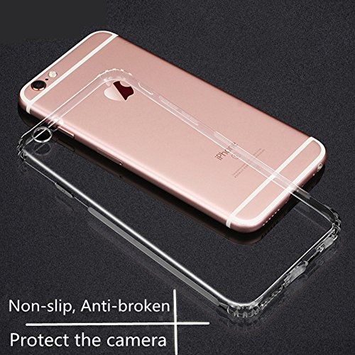 iPhone 8 Hülle, iPhone 7 Hülle, Chickwin Schutzhülle Transparent Bumper TPU Silikon mit Anti-Rutsch Kratzfest Crystal Handyhülle Transparent (iPhone 6plus(5.5