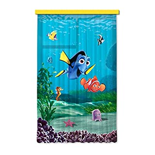Disney AG Design Nemo Kids Curtains/3D Photo Print, Polyester, Multi-Colour, 140 x 245 cm