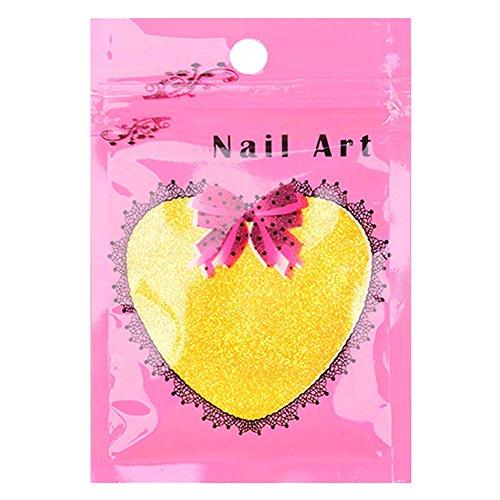Vococal® Poudre d'Ongle 10g Nail Art Glitter Nail Art Décoration Outils Couleur Aléatoire d'Emballage Sachet Jaune