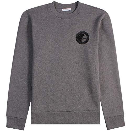 Versace Kollektion halb Medusa Sweatshirt Meduim Grey