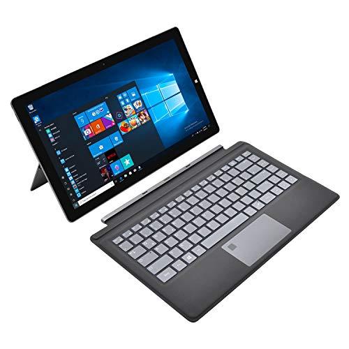 Winnovo 2-in-1 Laptop Touch Windows 10 64 Bit, 13,3 Zoll Notebook FHD IPS Intel Celeron N3350, 4GB RAM, 64GB eMMC, AC WiFi, Type-C, HDMI, USB 3.0, Bluetooth, SSD, QWERTZ Backlit Tastatur Fingerabdruck