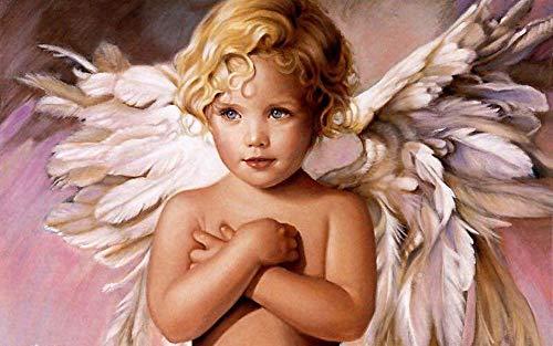 alerei Nach Zahlen Bild Von Zahlen Kleine Engel Abstrakt Auf Leinwand Figur Malerei Malen Nach Zahlen Malerei Digitale Wand Kunst Dekoration 40x50cm ()