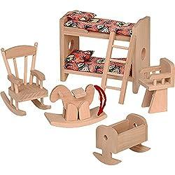 """Beluga Spielwaren 70114 - Puppenhausmöbel """"Kinderzimmer"""", 6-teilig"""