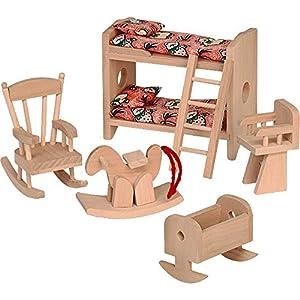 Beluga 70114 - Dormitorio de niños para casita de muñecas, 6 piezas
