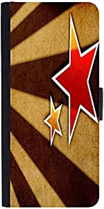 Snoogg Star Fan Art Graphic Snap On Hard Back Leather + Pc Flip Cover Moto-E