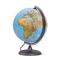 Idea Regalo - Globo luminoso per studenti, diametro 30cm, cartografia a doppia effetto, fisica e politica - edizione 2018 in italiano