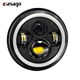 #8: Casago WV001RCA0126 LED Head Light with Halo Angle Eye Projector for Royal Enfield Classic 350