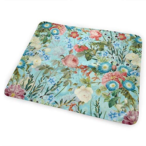 brand new 675a2 d8d5a 18 Watercolor Hand Drawn Pattern - Vintage Roses And Flowers On Blue  Washable Incontinence Pad Baby