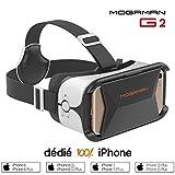 Mogaman® G2 - Casque VR 100% iPhone avec contrôle navigation intégré et réglage mise au point – Compatible iPhone 8 / 8 Plus / 7 / 7 Plus / 6 / 6 Plus / 6s / 6s Plus - Champ vision (FOV) 96°
