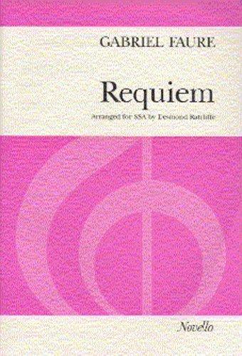 Gabriel Faure: Requiem (SSA). Partitions pour SSA, Accompagnement Piano