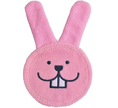 kimberleystore Oral Care Cleansing Kaninchen Zahnen Reinigungstuch für Baby (Rosa)