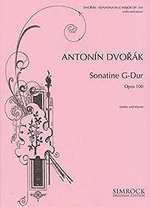 SIMROCK DVORAK ANTONIN - SONATINA OP. 100 - VIOLIN AND PIANO Partition classique Cordes Violon