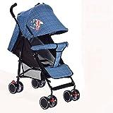 &Baby Kinderwagen Baby Cart Hand Hand Pushing Baby Regenschirm kann sitzen und liegen Falten Suspension