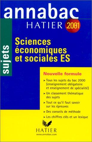 Annabav 2001. Sciences économiques et sociales. ES