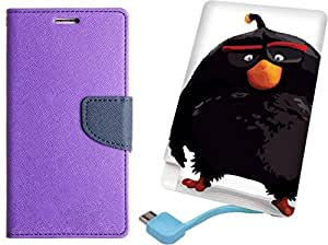 APE Diary Cover and Printed Power Bank for Samsung Galaxy A5 2016