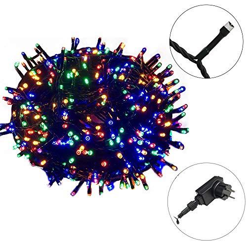 AUFUN LED Lichterkette 100m LED Weihnachtslichterkette 1000LEDs Lichte Innen und Außenbereich Lauflichter für Saal, Garten, Weihnachten, Hochzeit, Party - Bunt