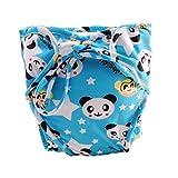 Größe Medium, verstellbare Säugling Schwimmen Windel mit Krawatten, [Panda]
