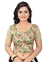 ad5f7776da08e7 JAY LAXMI SALES Women s Stretchable Designer Shimmer Lycra Free Size  Readymade Saree Blouse