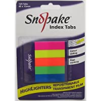 Snopake highlighters strips sticky repositionable index tabs