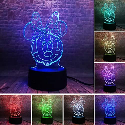 ey Minnie Goofy Meerjungfrau Toy Story Schlafen 7 Farbe Nachtlicht Kind Weihnachten Geburtstag Valentinstag Spielzeug Geschenke 21x15x6 ()
