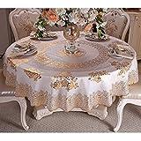 YT-ER Tischdecken - Einfamilienhaus Haushalt PVC-Tischdecke Runde Tischdecke Wasserdichte Tischdecken Anti-Öl- und Anti-Waschmittel Einzelne Runde Tischdecke für Dinner-Picknick, e