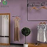 ZCHENG Nordic moderne minimaliste plaine non-tissé soie papier peint papier peint chambre fond papier peint couleur unie F1 lilas violet