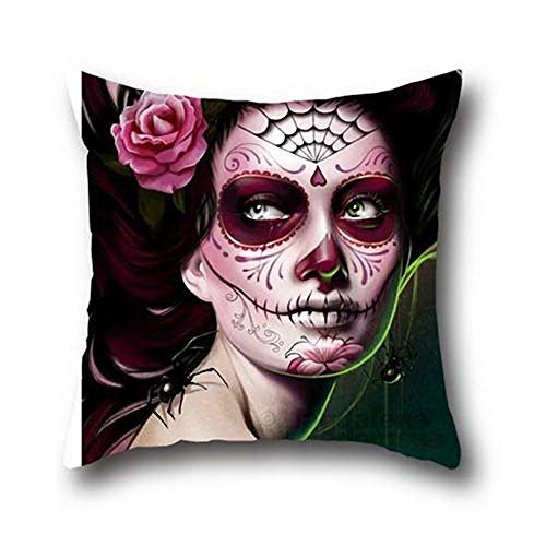 Fen Dou La Halloween Maske 100% Baumwolle Sofa werfen Kissen Fall Licht Gewicht gefärbt Fall 20* 30
