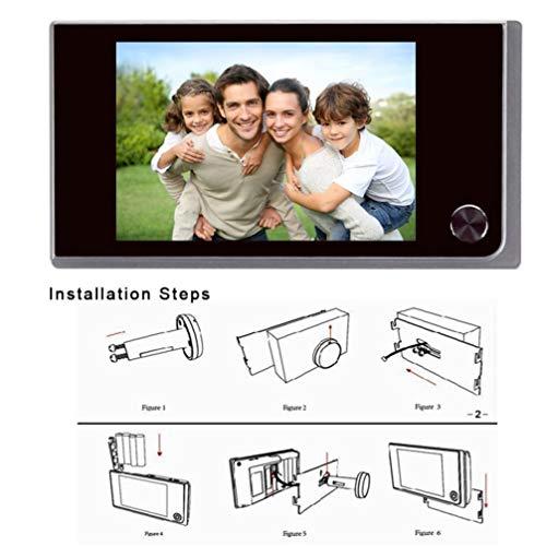 Vosarea 3.5 Inch Peephole Viewer Door Viewer 120 Degree Angle Home Security Door Peephole Kamera Door Eye Hole LCD Display Monitor - Doors Home Screen Security