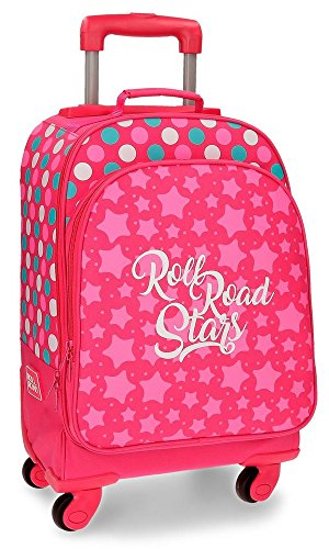 Roll Road Stars Mochila Escolar, 44 cm, 29.57 litros, Rosa