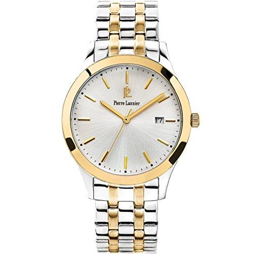 Pierre Lannier-247G021 Classic-Elegance-Reloj cuarzo, hombre-analógico, correa de acero chapado, bicolor