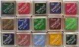 Tsukineko almohadilla de tinta VERSACRAFT pequeño para papeles juego de tela madera etc OF 15 varios colores
