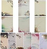 sunswei escritura papelería set de papel, carta papel de escribir Carta conjuntos, 48pcs varios documentos de color carta y 24pcs sobres