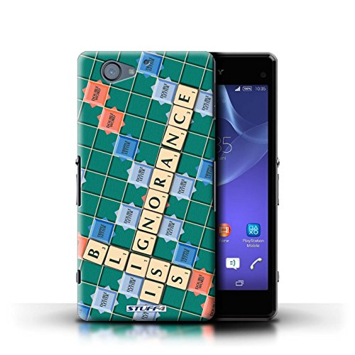 Kobalt® Imprimé Etui / Coque pour Sony Xperia A2 / Coeur Chaud conception / Série Mots de Scrabble Ignorance Béatitude