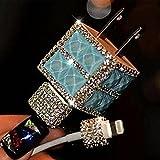 Evtech (tm) USB Wall Charger 3D Bling strass cristal Glitter chargeur de téléphone plug - Bleu