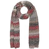 Lierys Jasila Strickschal Winterschal Damen/Herren - Made in Germany Schal Herbst-Winter - One Size grau-rot