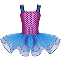 iEFiEL Vestido de Princesa Danza Ballet Maillot Niña Tutu Falda Disfraz de Bailarina para Niña 3-10 Años