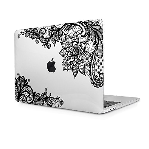 "Cover MacBook Pro 13 2017 2016, TwoL Custodia Protettiva Rigida Cover per Nuovo MacBook Pro 13"" A1706 / A1708 con e senza Touch Bar (Lace)"