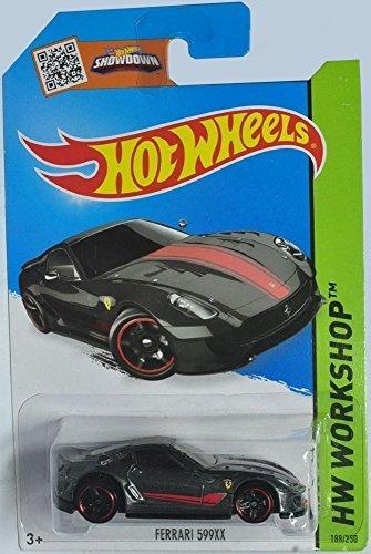 Hot Wheels, 2015 HW Workshop, Ferrari 599XX [Black] Die-Cast Vehicle #188/250 by Mattel
