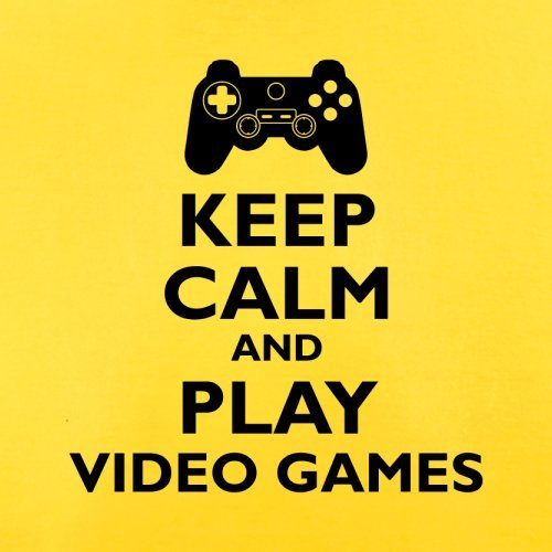 Keep Calm and Play Video Games - Herren T-Shirt - 13 Farben Gelb