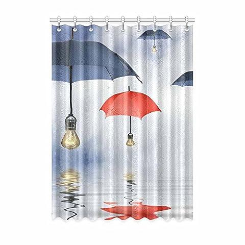 Custom Parapluie (1) Rideau de fenêtre 132,1cm (L) x 274,3cm (H) souple étanche Tissu Polyester, écoute, impression d'un style monobloc (9trous), Polyester, Umbrella(5),