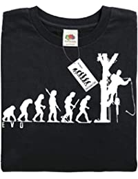 Mans Evolution T-Shirt® EVO Mens Ape to Tree Surgeon brand new original gift present