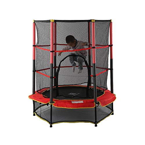 """YUSDP 55\""""Trampolin mit Sicherheitsnetz - Weiches, elastisches Seildesign, sicher und sicher - Dynamische Tragfähigkeit 50 kg - Geburtstagsgeschenke für Kinder, Kleinkindspielzeug"""