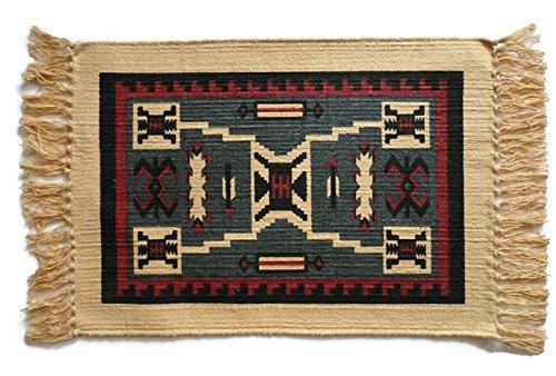 Southwest Baumwolle Schablone Platzdeckchen Tapestry #5 - Log Cabin Lodge Dekor