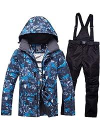 Traje de esquí Traje Masculino Invierno Exterior Resistente al Viento, Impermeable, cálida, Transpirable Ropa de esquí Simple y Doble