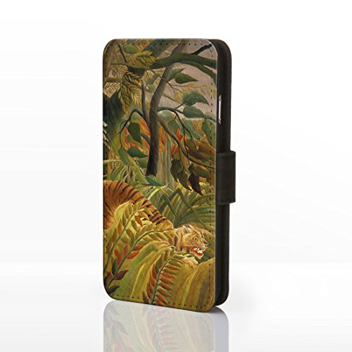 Coque pour téléphones iPhone - Motif œuvre de peintre célèbre - Collection art classique -, Cuir synthétique, 1: Almond Blossom - Vincent Van Gogh, iphone /s 20: Surprised - Rousseau