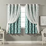 Best Home Fashion Curtain Panel Set, Blue, 52W - Best Reviews Guide