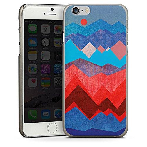 Apple iPhone 5s Housse Étui Protection Coque Montagnes Motif Motif CasDur anthracite clair